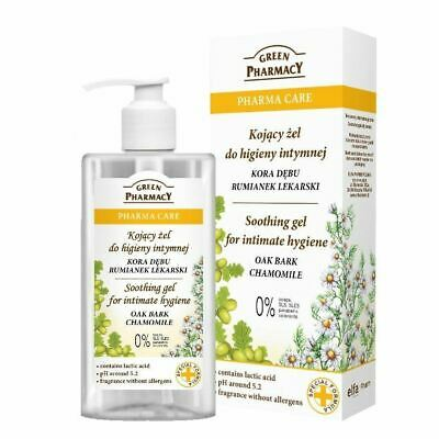 Green Pharmacy Soothing Gel for Intimate Hygiene Oak Bark Chamomile Paraben FREE