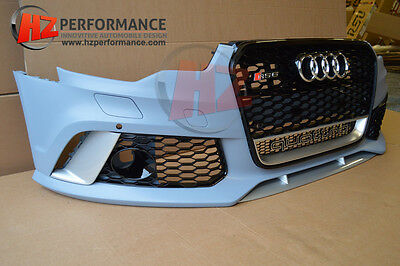 Audi A6 S6 To Rs6 C7 Front Bumper Conversion + Gloss Black Grill | 2012-2014