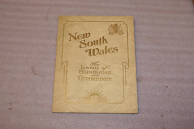 1934 New South Wales Australia Land of Sunshine and Opportunity Handbook