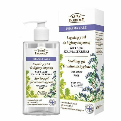 Green Pharmacy Soothing Gel for Intimate Hygiene Oak Bark Sage Paraben FREE
