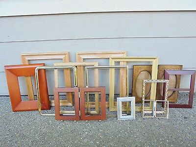 Vintage PICTURE FRAME Lot of 13 Metal/Brass/Wood/Gold Gilt Shabby Chic Wedding!!