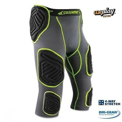 Champro Adult Mens Bull Rush 7 Pad Integrated Football Girdle With Pads FPGU17A