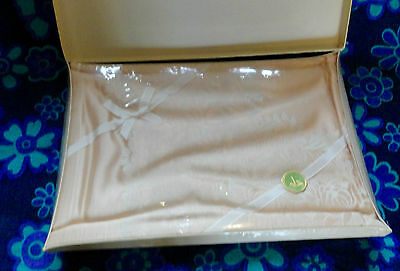 Vintage Linen Damask Tablecloth Old Keltie Superior~52in x 52ins~Boxed~Unused