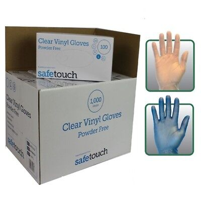 1000 Powder Free Disposable Clear Vinyl Gloves Latex Free Medical Grade Box