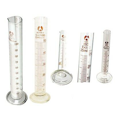 Graduated Glass Measuring Cylinder Chemistry Laboratory Measure BF