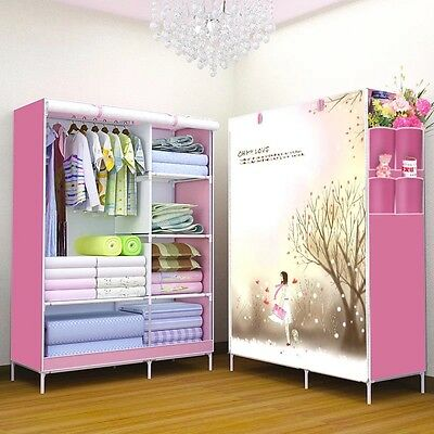 Portable Closet Wardrobe Clothes Rack Storage  Shelf Multi-color selection New