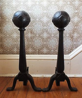 Vintage Andirons Gothic- Medieval - Arts & Crafts Style