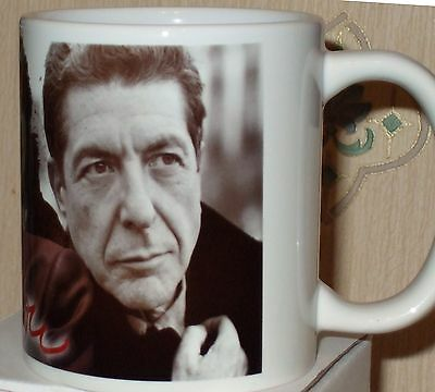 Leonard Cohen tribute coffee  mug