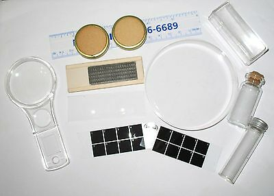 Clearance microfossil preparation kit, slide and tools for micro fossils