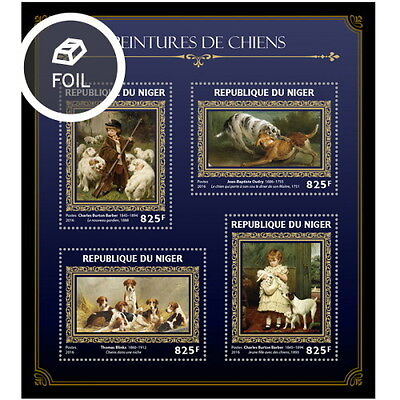 Z08 IMPERFORATED NIG16408a NIGER 2016 Dogs on paintings MNH