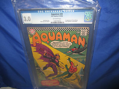 DC AQUAMAN #29 CGC 3.0 1st Appearance Of The Ocean Master Off White Pages GD/VG