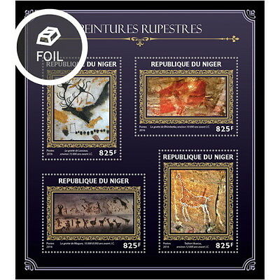 Z08 NIG16405a NIGER 2016 Cave paintings MNH