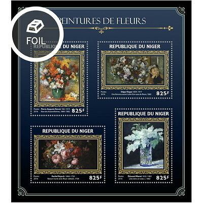 Z08 NIG16410a NIGER 2016 Flowers on paintings MNH