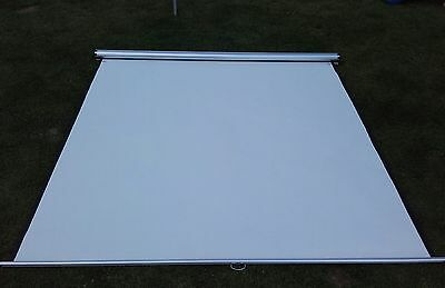 """72"""" Manual Pull Down Wall Mounted Projector Screen 4:3"""