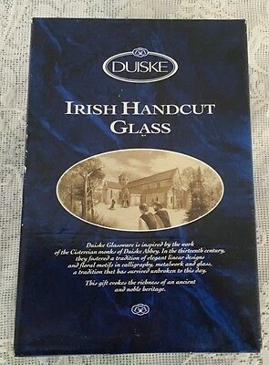 Vintage Duiske Irish Handcut Crystal Decanter With Two Matching Shot Glasses New