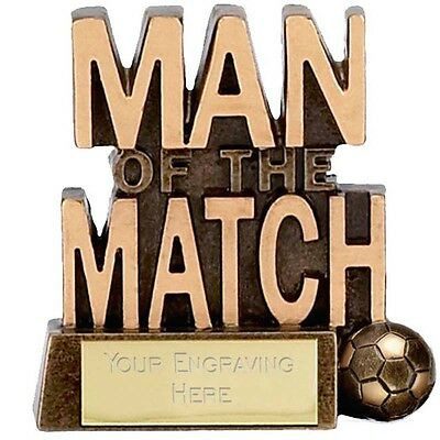83mm Man of the Match Trophy,FREE Engraving ,(A878)