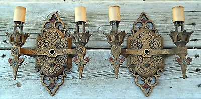 1930s Wall Sconces Art Deco Gothic Light Fixture Virden Vintage Lamp More Avail!
