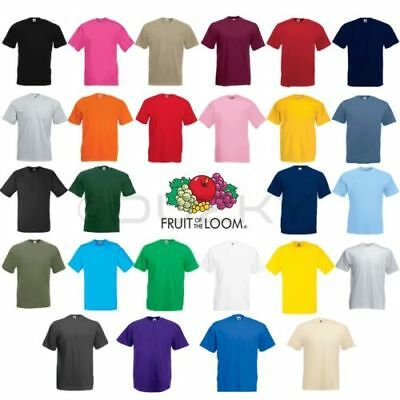 3 Pack Mens Fruit Of The Loom 100% Cotton Plain Tee Shirt T Shirt T-Shirt