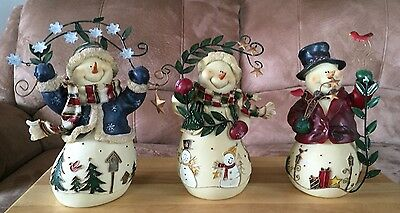 Snow Friends Set of 3   From Vintage Home Interiors