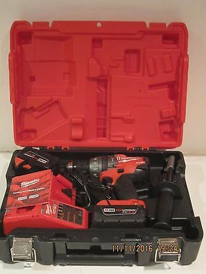 Milwaukee 2604-22 M18 FUEL 18V Li-Ion Hammer Drill KIT DEMO/DISPLAY F/SHIP NEW!!