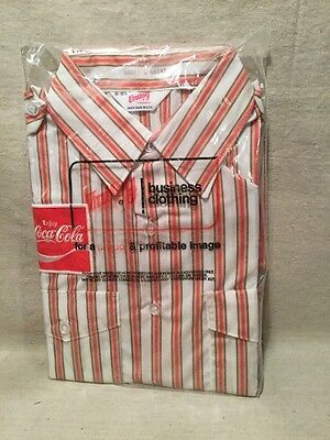VINTAGE COCA COLA EMPLOYEE UNIFORM SHIRT UNITOG SIZE 16-16 1/2 new in package