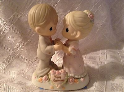 Precious Moments Our Love Was Meant To Be Happy Anniversary Figurine Porcelain