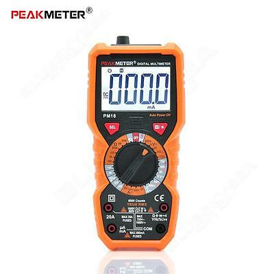 PEAKMETER True RMS Multifunctional Digital Multimeter AC/DC Cur Measuring Tester