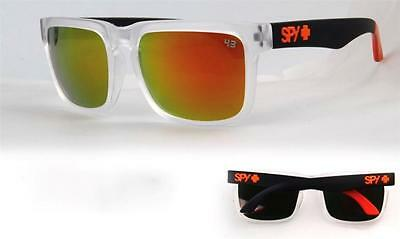 Mens Sunglasses Black Orange Ken Block Spy Gold Reflective Lenses 100% Uv $34.95