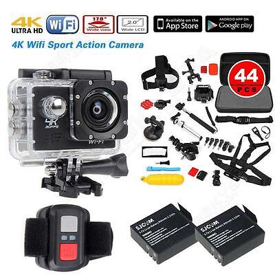 SJ8000 4K HD 1920*1080P WIFI Action Camera+2 Battery+44 in1 Accessories+Remote