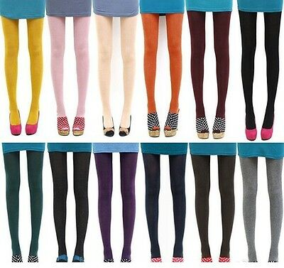 Women Fashion Opaque Foot Tights Velvet Slim Stretchy Stocking Pantyhose Colors