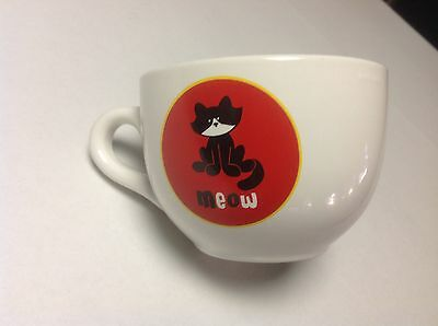 Meow Large Kitty Cat Coffee Mug