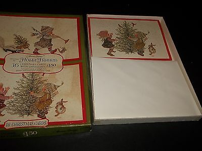 Lot 7  Vintage Holly Hobbie Christmas Cards in Original Box Decorating Tree