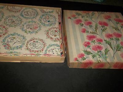 Lot 16 Sheets of Vintage Gift Wrapping Paper Baby Showers Birthday Flowers Box