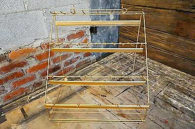 Vtg Primitive Metal Wire Store Display Rack Mid Cent Counter Shop Jewelry Supply