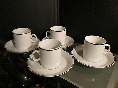 4 x EASTERN AIRLINES china DEMITASSE cup set REGO mugs coffee glass lot vintage