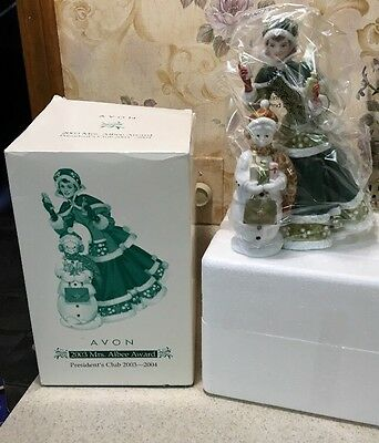 Nib Avon 2003 Mrs Albee Presidents Club Figurine With Original Box