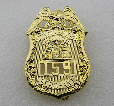 New NYPD SERGEANT Badge 159 Copper Police Armband Collectibles Prop Cosplay