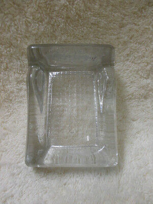Vtg Glass Ink Well-One Pen Rest Made In England*unused