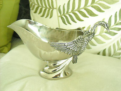 Silea- Swan, Silver-Plated, Gravy/sauce Boat