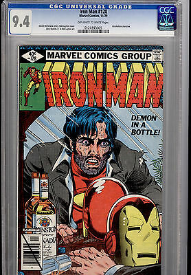 Iron Man #128 Classic Demon In A Bottle Alcoholism Story Line Near Mint Cgc 9.4