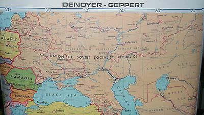 Denoyer Geppert  Canvas Roll Up Wall  School Map Middle East land of 5 seas BIG