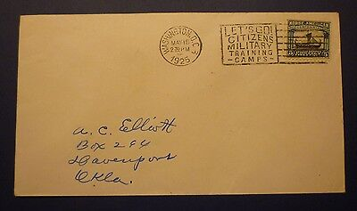 #621 1925 Norse-American Fdc - Addressed To A.c. Elliot - Davenport, Oklahoma