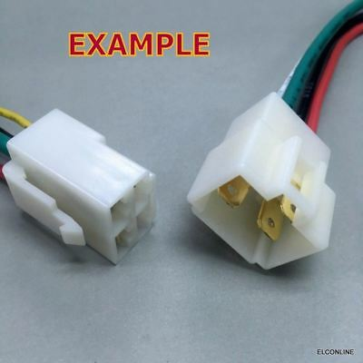 5 Sets x T4-Plug 4 Wire Socket Connector Adapter w/ 6.3mm M & F Terminals #Agtc