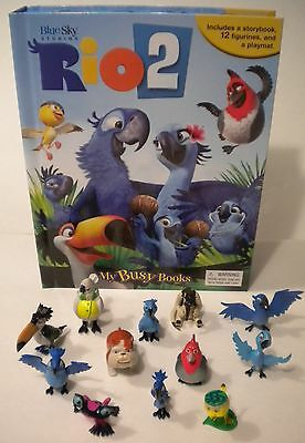 NEW RIO 2 Movie Toy BOOK Figure Set Play Mat PVC Figurines Playset Cake Toppers