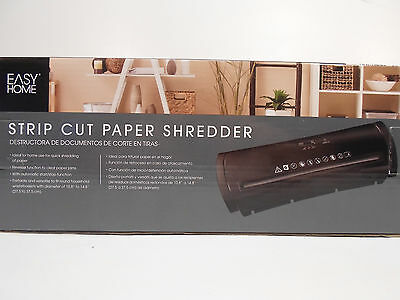 New Document Shredder Easy Home Compact Strip Cut Paper Shredder - Glossy Black