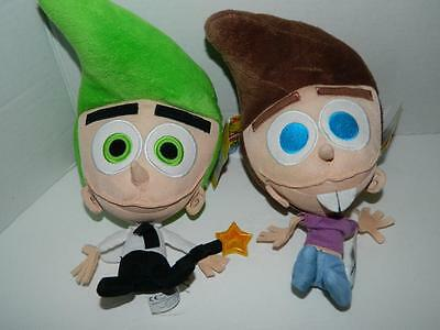 """Fairly Odd Parents 11"""" Plush Cosmo 10"""" Timmy Turner Big Heads Nickelodeon Toys"""