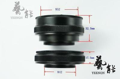 M52 to M42 x 17.5mm Focusing Helicoid Macro Extension Tube