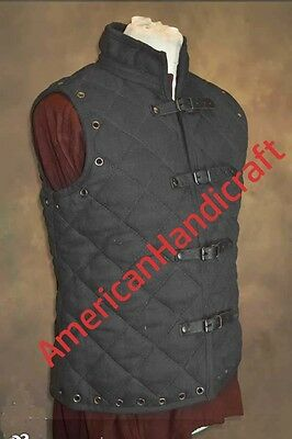 Best XMAS GIFT MEDIEVAL ARTHUR GAMBESON VEST IN BLACK