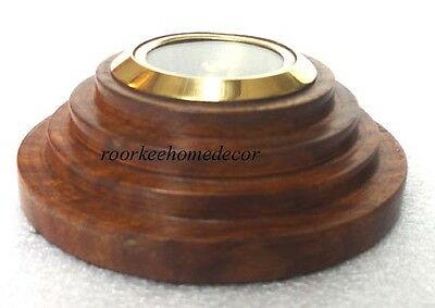 Nautical Brass Collectible Awesome Vintage Stylish POCKET WOODEN COMPASS