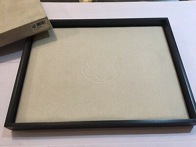 Montblanc Presentation Wood/suede Tray - New In Box